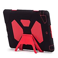voordelige iPad-hoesjes/covers-hoesje Voor Apple Kaarthouder Schokbestendig Water / Dirt / Shock Proof met standaard Volledig hoesje Effen Kleur Hard Siliconen voor