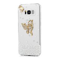 Недорогие Чехлы и кейсы для Galaxy S-Кейс для Назначение SSamsung Galaxy S8 Plus S8 Стразы С узором Задняя крышка Бабочка Твердый Акриловое волокно для S8 Plus S8 S7 edge S7