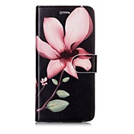Недорогие Кейсы для iPhone 8-Кейс для Назначение Apple iPhone X iPhone 8 Бумажник для карт Кошелек Флип Магнитный С узором Чехол Цветы Твердый Кожа PU для iPhone X
