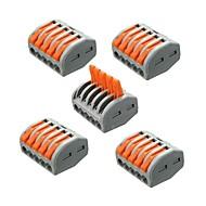 abordables Accesorios para Tiras LED-zdm 5pcs et25 2/3/5 pins 32a conector de cable de cable eléctrico de terminal de primavera