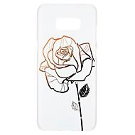 Недорогие Чехлы и кейсы для Galaxy S7-Кейс для Назначение SSamsung Galaxy S8 S7 Стразы С узором Рельефный Кейс на заднюю панель Цветы Твердый ПК для S8 Plus S8 S7 edge S7 S6