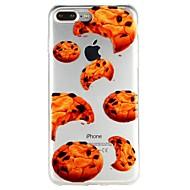 Недорогие Кейсы для iPhone 8-Кейс для Назначение Apple iPhone 6 iPhone 7 Полупрозрачный С узором Рельефный Кейс на заднюю панель Продукты питания Мультипликация Мягкий
