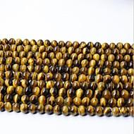 お買い得  -DIYジュエリー 65 個 ビーズ クリスタル イエロー 円形 ビーズ 0.6 cm DIY ネックレス ブレスレット