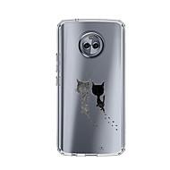 Недорогие Чехлы для телефонов-Кейс для Назначение Motorola E4 Plus 5 С узором Кейс на заднюю панель Кот Мягкий ТПУ для Moto X4 Moto E4 Plus Moto E4
