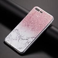 Недорогие Кейсы для iPhone 8-Кейс для Назначение Apple iPhone X iPhone 8 Кейс для iPhone 5 iPhone 6 iPhone 7 С узором Кейс на заднюю панель Мрамор Мягкий ТПУ для