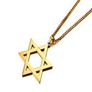 お買い得  -男性用 ペンダントネックレス  -  ステンレス 星形, スターのデビッド シンプル ゴールド, シルバー ネックレス 1 用途 贈り物, 日常