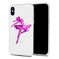 Недорогие Кейсы для iPhone 8 Plus-Кейс для Назначение Apple iPhone X iPhone 8 Plus С узором Задняя крышка Соблазнительная девушка Мультипликация Мягкий TPU для iPhone X