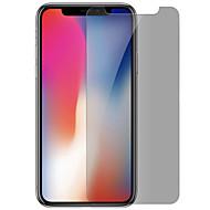 Недорогие Защитные плёнки для экрана iPhone-Защитная плёнка для экрана Apple для iPhone X Закаленное стекло 1 ед. Защитная пленка Anti-Spy Против отпечатков пальцев Защита от