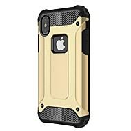 Недорогие Кейсы для iPhone 8 Plus-Кейс для Назначение Apple iPhone X iPhone 8 Plus Защита от удара Кейс на заднюю панель броня Твердый Металл для iPhone X iPhone 8 Pluss
