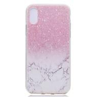 Недорогие Кейсы для iPhone 8 Plus-Кейс для Назначение Apple iPhone X iPhone 8 Plus Прозрачный С узором Задняя крышка Мрамор Мягкий TPU для iPhone X iPhone 8 Pluss iPhone 8