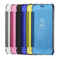tanie Etui / Pokrowce do Samsunga Galaxy Note-Kılıf Na Samsung Galaxy Note 8 Note 5 Galwanizowane Lustro Flip Solid Color Twarde na Samsung Galaxy