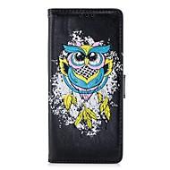 Недорогие Чехлы и кейсы для Galaxy Note-Кейс для Назначение SSamsung Galaxy Note 8 Бумажник для карт Кошелек со стендом Флип Рельефный Чехол Сова Твердый Кожа PU для Note 8