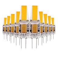 billige LED-lamper med G-sokkel-YWXLIGHT® 10pcs 3W 200-300 lm G4 LED-lamper med G-sokkel 2 leds COB Dekorativ LED Lys Varm hvid Kold hvid Naturlig hvid AC 12V Jævnstrøm