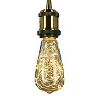 abordables Bulbos de decoración-1pc 3W 300lm E26 / E27 Bombillas de Filamento LED ST64 25 Cuentas LED SMD Nuevo diseño / Decorativa / Estrellado Blanco Cálido / Azul /