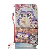 Недорогие Кейсы для iPhone 8 Plus-Кейс для Назначение Apple iPhone X iPhone 8 Бумажник для карт Кошелек со стендом Чехол Сова Твердый Кожа PU для iPhone X iPhone 8 Pluss