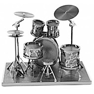 cheap Toys & Hobbies-3D Puzzles Metal Puzzles Round Drum Set Jazz Drum Hand-made Parent-Child Interaction Exquisite Metal Music Contemporary Classic & Timeless