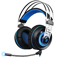 cheap Headsets & Headphones-SADES A7-3 Headband Wired Headphones Dynamic Plastic Gaming Earphone with Microphone Headset