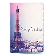 olcso iPad tokok-Case Kompatibilitás Apple iPad mini 4 iPad Mini 3/2/1 Állvánnyal Flip Minta Automatikus alvó állapot/felébredés Héjtok Eiffel torony