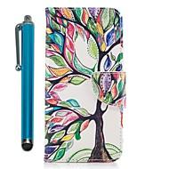 Недорогие Чехлы и кейсы для Galaxy A7(2017)-Кейс для Назначение SSamsung Galaxy A8 2018 A5(2017) Бумажник для карт Кошелек со стендом Флип Магнитный Чехол дерево Твердый Кожа PU для