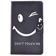 Недорогие Чехлы и кейсы для Galaxy Tab E 9.6-Кейс для Назначение SSamsung Galaxy Tab E 9.6 Бумажник для карт со стендом Флип С узором Чехол Слова / выражения Твердый Кожа PU для Tab