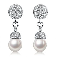 Women's Dangle Earrings With Gift Box Imitation Pearl Lovely Fashion Alloy Ball Jewelry Wedding Daily