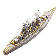 cheap Educational Toys-3D Puzzle / Metal Puzzle Military / Battleship Metalic / Stainless Steel 1 pcs Boat Kid's / Adults' Gift