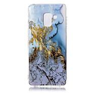 voordelige Galaxy A-serie hoesjes / covers-hoesje Voor Samsung Galaxy A8 2018 IMD Patroon Achterkant Marmer Zacht TPU voor A8 2018