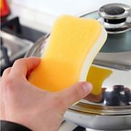 abordables Esponjas y estropajos-Alta calidad 1pc Esponja de microfibra Esponja y Estropajo, 11*7*3