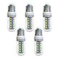 お買い得  LED コーン型電球-5個 4W 350lm E26 / E27 36 LEDビーズ SMD 5730 LEDライト ホワイト 220-240V