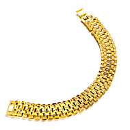 Men's Chain Bracelet Metallic Fashion Gold Plated Jewelry Party Gift