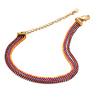 Women's Chain Bracelet Bohemian Fashion Gold Plated Circle Jewelry Party Gift