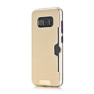 Недорогие Чехлы и кейсы для Galaxy S7 Edge-Кейс для Назначение SSamsung Galaxy S8 S7 Бумажник для карт Защита от удара Кейс на заднюю панель Сплошной цвет Твердый ПК для S8 Plus S8