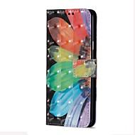 Недорогие Чехлы и кейсы для Galaxy S9-Кейс для Назначение SSamsung Galaxy S9 S9 Plus Бумажник для карт Кошелек со стендом Флип Магнитный Чехол Цветы Твердый Кожа PU для S9