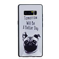 tanie Etui / Pokrowce do Samsunga Galaxy Note-Kılıf Na Samsung Galaxy Note 8 Wzór Czarne etui Pies Miękkie TPU na Note 8