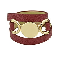 billige Smykker & Klokker-Dame Armringer - Lær Vintage, Grunnleggende Armbånd kaffe / Rød / Blå Til Trening Valentine