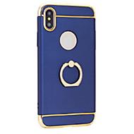 Недорогие Кейсы для iPhone 8 Plus-Кейс для Назначение Apple iPhone X iPhone 8 Покрытие Кольца-держатели Ультратонкий Кейс на заднюю панель Сплошной цвет Твердый ПК для