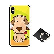Недорогие Кейсы для iPhone 8 Plus-Кейс для Назначение Apple iPhone X iPhone 8 со стендом Ультратонкий С узором Кейс на заднюю панель С собакой Твердый Закаленное стекло для