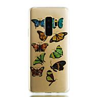 Недорогие Чехлы и кейсы для Galaxy S9 Plus-Кейс для Назначение SSamsung Galaxy S9 S9 Plus IMD Прозрачный С узором Сияние и блеск Кейс на заднюю панель Бабочка Сияние и блеск Мягкий
