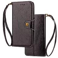 Недорогие Чехлы и кейсы для Galaxy S7-Кейс для Назначение SSamsung Galaxy S9 S9 Plus Бумажник для карт Кошелек Флип Магнитный Чехол Однотонный Твердый Настоящая кожа для S9