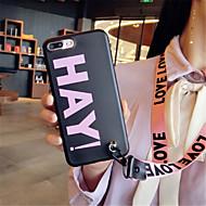 Недорогие Кейсы для iPhone 8 Plus-Кейс для Назначение Apple iPhone X iPhone 7 Plus С узором Кейс на заднюю панель Слова / выражения Мягкий Силикон для iPhone X iPhone 8