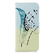 Недорогие Чехлы и кейсы для Galaxy S9-Кейс для Назначение SSamsung Galaxy S9 S9 Plus Бумажник для карт Кошелек со стендом Флип С узором Чехол Перья Твердый Кожа PU для S9
