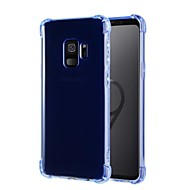 Недорогие Чехлы и кейсы для Galaxy S9-Кейс для Назначение SSamsung Galaxy S9 S9 Plus Защита от удара Ультратонкий Прозрачный Кейс на заднюю панель Однотонный Мягкий ТПУ для S9