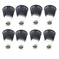 お買い得  LED スポットライト-8個入り 5.5W 6.5W 600lm GU10 LEDスポットライト 1 LEDビーズ COB 温白色 クールホワイト 220-240V