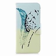 Недорогие Чехлы и кейсы для Galaxy S8 Plus-Кейс для Назначение SSamsung Galaxy S9 S9 Plus Бумажник для карт Кошелек со стендом С узором Чехол Перья Твердый Кожа PU для S9 Plus S9
