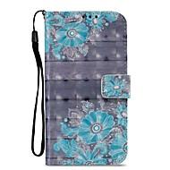 preiswerte Handyhüllen-Hülle Für Motorola Z2 play Kreditkartenfächer Geldbeutel mit Halterung Flipbare Hülle Magnetisch Ganzkörper-Gehäuse Blume Hart PU-Leder