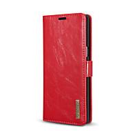 Недорогие Чехлы и кейсы для Galaxy Note-Кейс для Назначение SSamsung Galaxy Note 8 Бумажник для карт со стендом Флип Чехол Сплошной цвет Твердый Настоящая кожа для Note 8