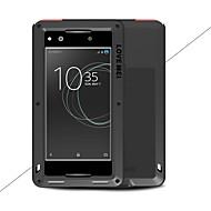 お買い得  -ケース 用途 Sony Xperia XA1 Ultra Xperia XA1 水/汚れ/ショックプルーフ フルボディーケース 純色 ハード メタル のために Sony Xperia XA1 Ultra Sony Xperia XA1