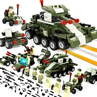 Building Blocks 484 pcs Stress and Anxiety Relief Parent-Child Interaction Decompression Toys Military Vehicle Tank Adults' Gift
