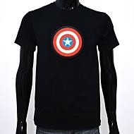 voordelige LED T-shirts-LED T-shirts Glans Puhdasta puuvillaa LED Informeel 2 AAA Batterijen