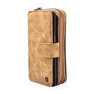 Недорогие Чехлы и кейсы для Galaxy Note 8-Кейс для Назначение SSamsung Galaxy Note 8 Бумажник для карт Кошелек Защита от удара со стендом Чехол Сплошной цвет Твердый Кожа PU для